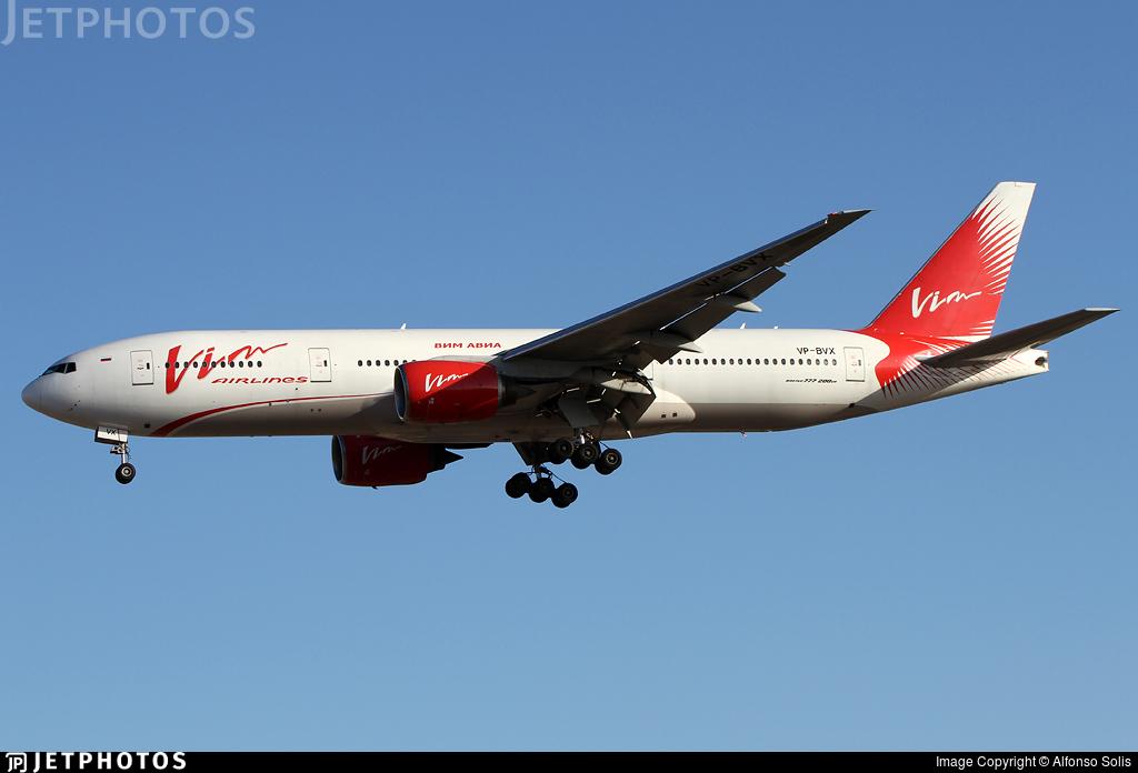 VP-BVX - Boeing 777-212(ER) - Vim Airlines