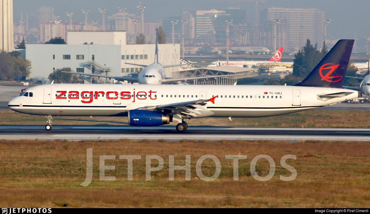 TC-OBJ - Airbus A321-231 - Zagrosjet