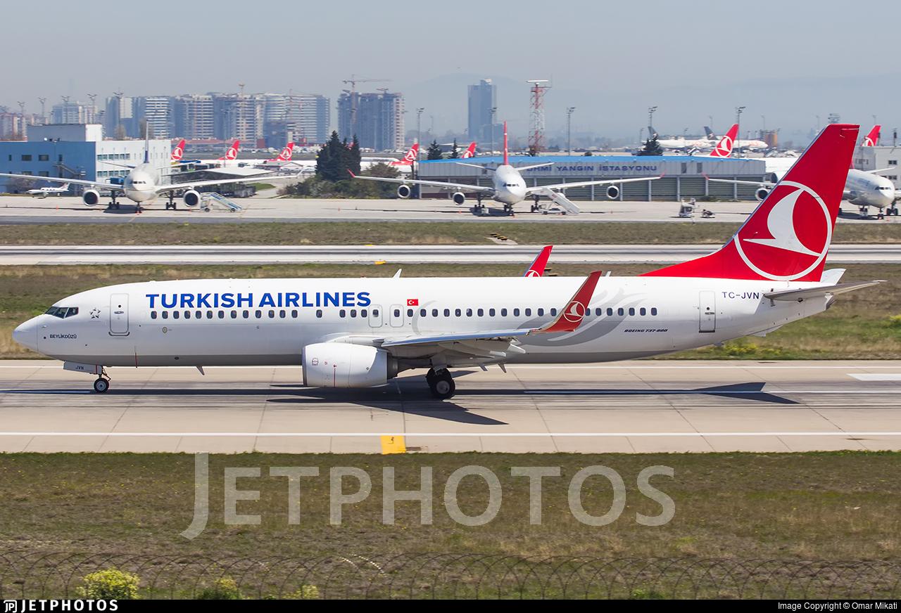 TC-JVN - Boeing 737-8F2 - Turkish Airlines