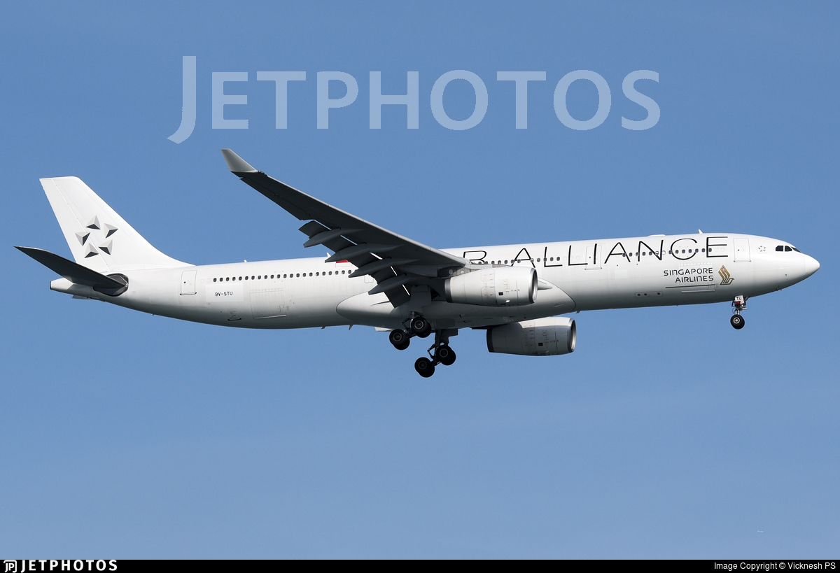 9V-STU - Airbus A330-343 - Singapore Airlines