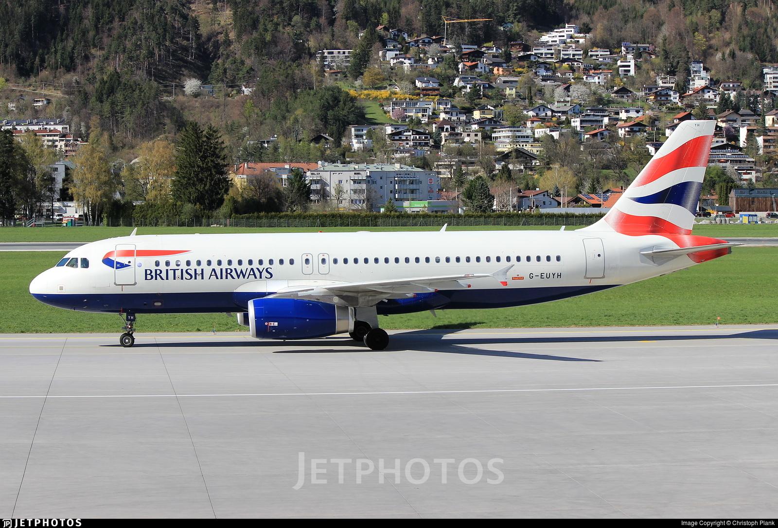 G-EUYH - Airbus A320-232 - British Airways
