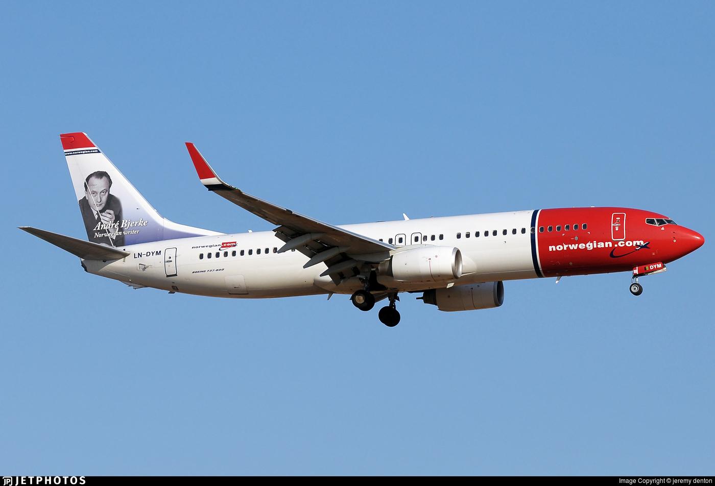 LN-DYM - Boeing 737-8JP - Norwegian