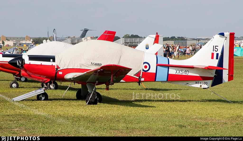 N540BD - Scottish Aviation Bulldog 120 - Private