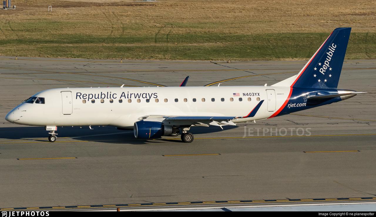 N403YX - Embraer 170-200LR - Republic Airways