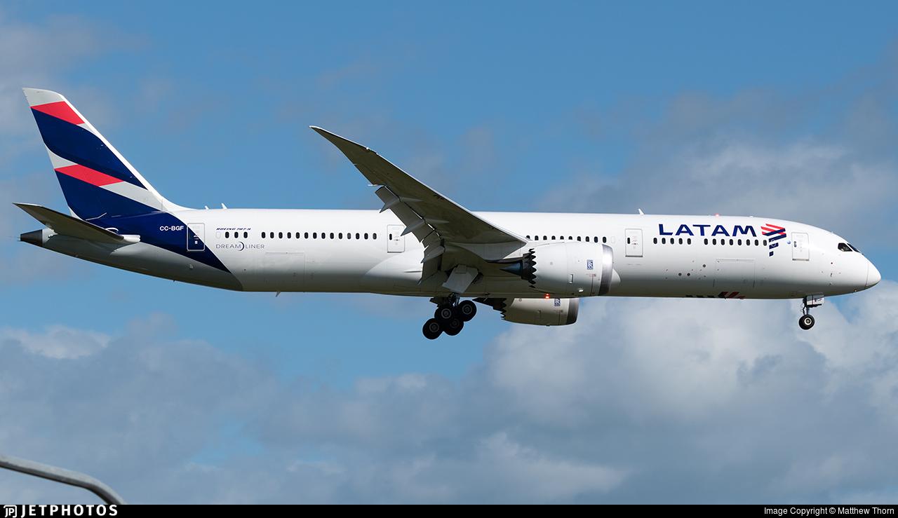 CC-BGF - Boeing 787-9 Dreamliner - LATAM Airlines