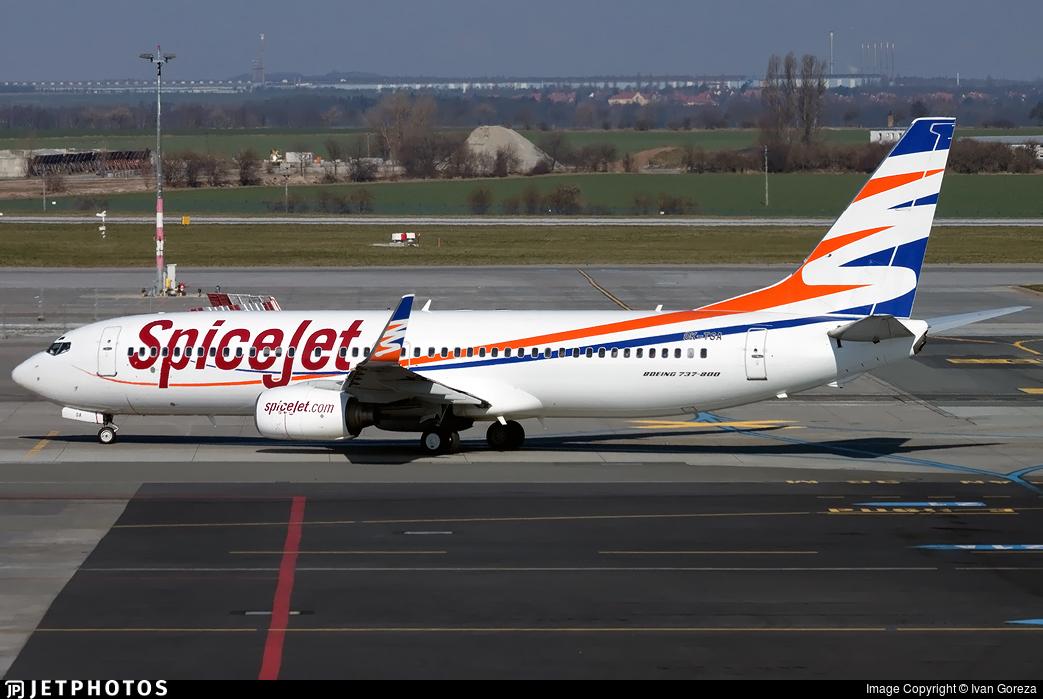 OK-TSA - Boeing 737-8S3 - SpiceJet (Smart Wings)