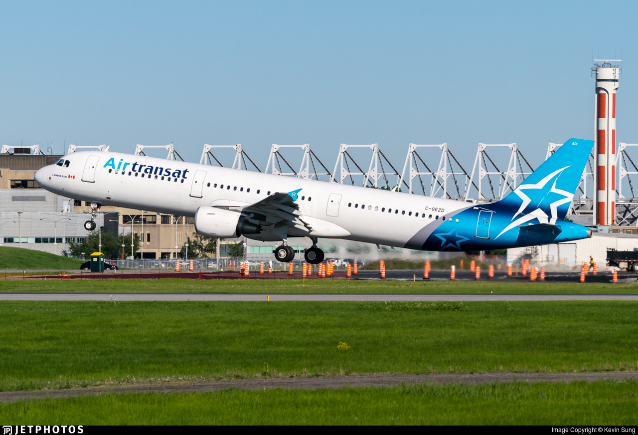 C Gezd Airbus A321 211 Air Transat Kevin Sung Jetphotos