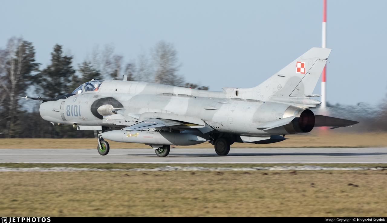 8101 - Sukhoi Su-22M4 Fitter K - Poland - Air Force