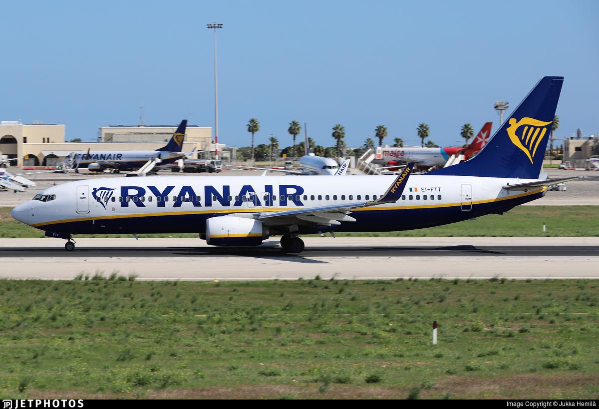 EI-FTT - Boeing 737-8AS - Ryanair