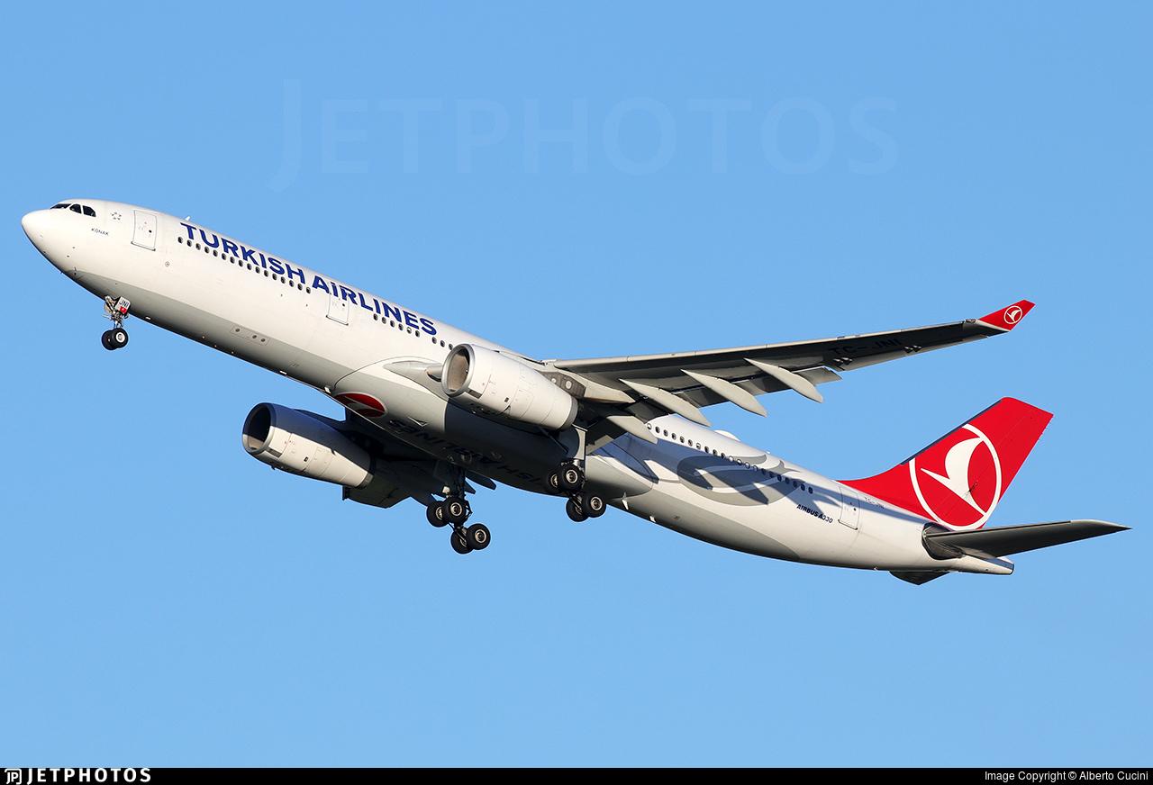 TC-JNI - Airbus A330-343 - Turkish Airlines