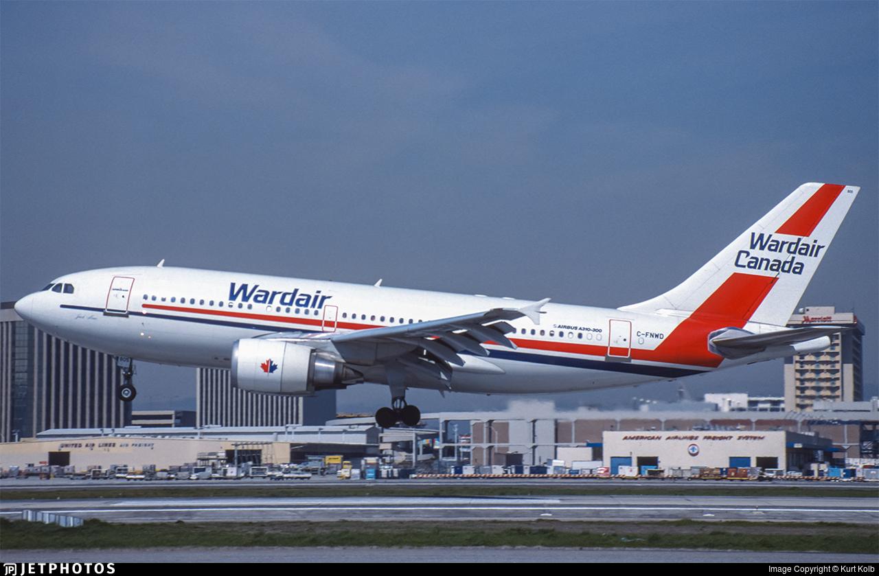 C-FNWD - Airbus A310-304 - Wardair Canada