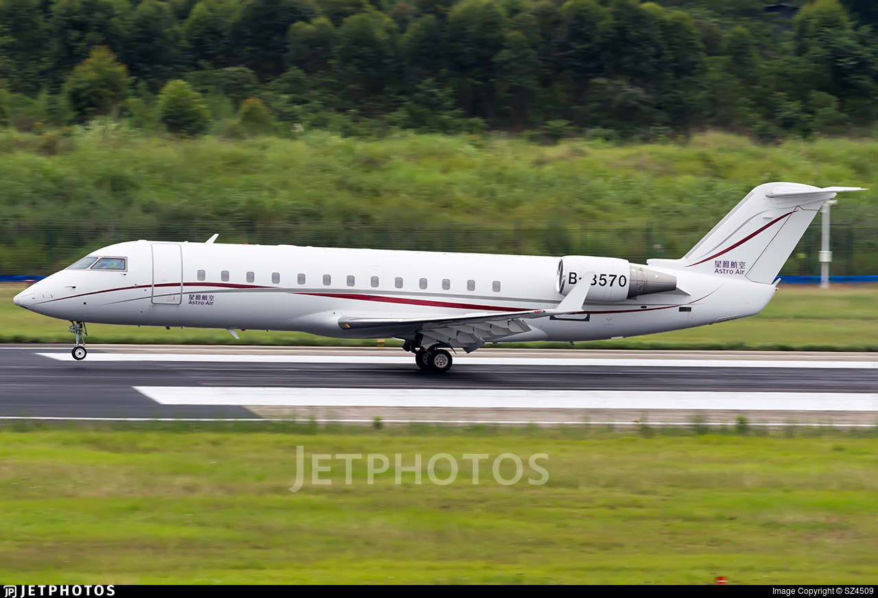 B-3570 - Bombardier CL-600-2B19 Challenger 850 - Astro Air