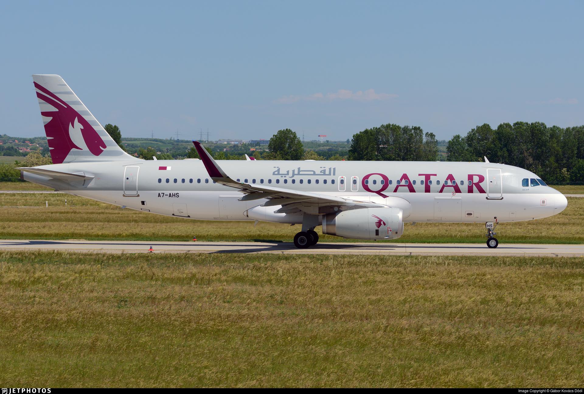 A7-AHS - Airbus A320-232 - Qatar Airways