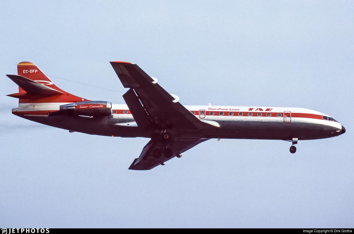 EC-DFP - Sud Aviation SE 210 Caravelle 10B3 - Trabajos Aereos y Enlaces (TAE)