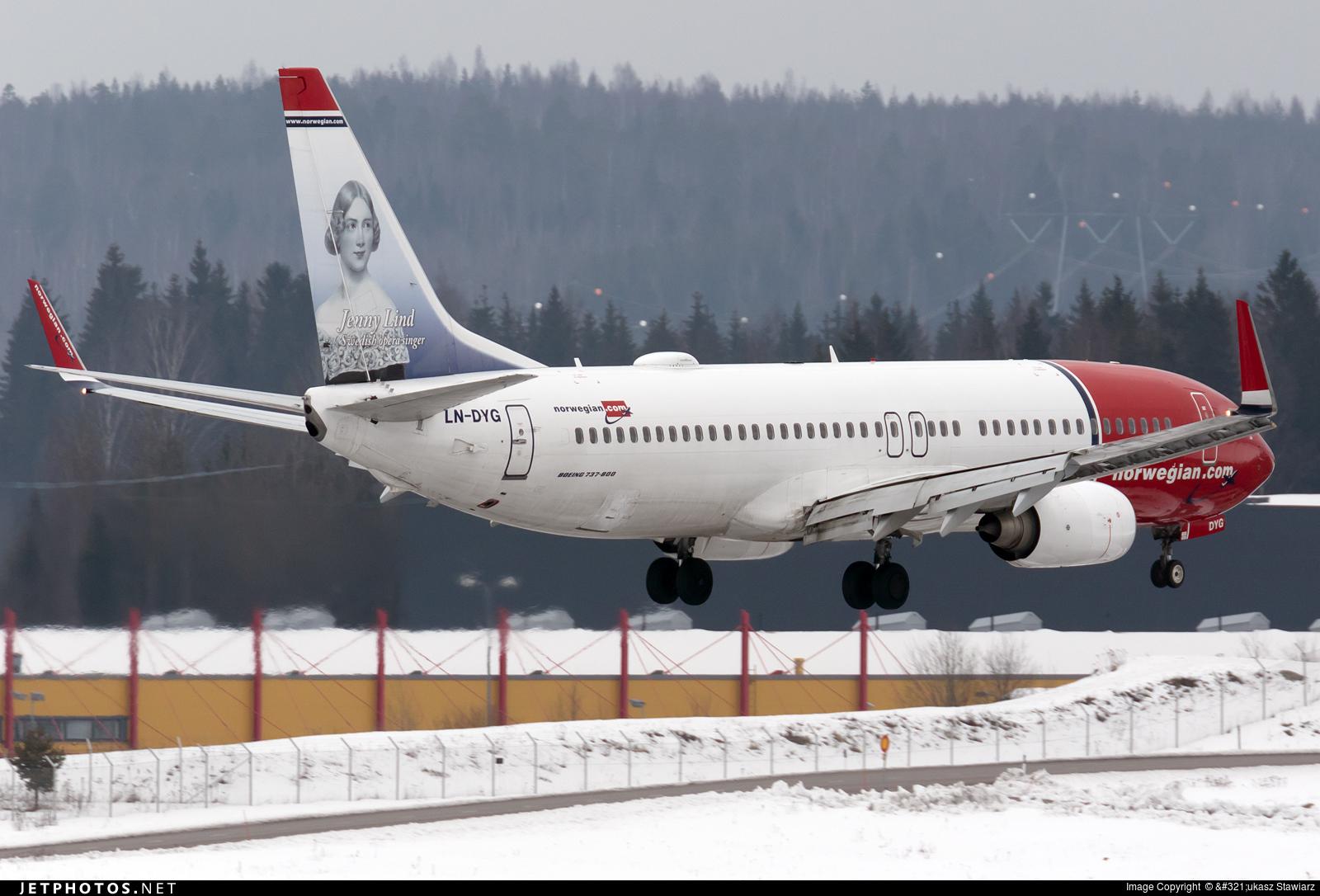 LN-DYG - Boeing 737-8JP - Norwegian