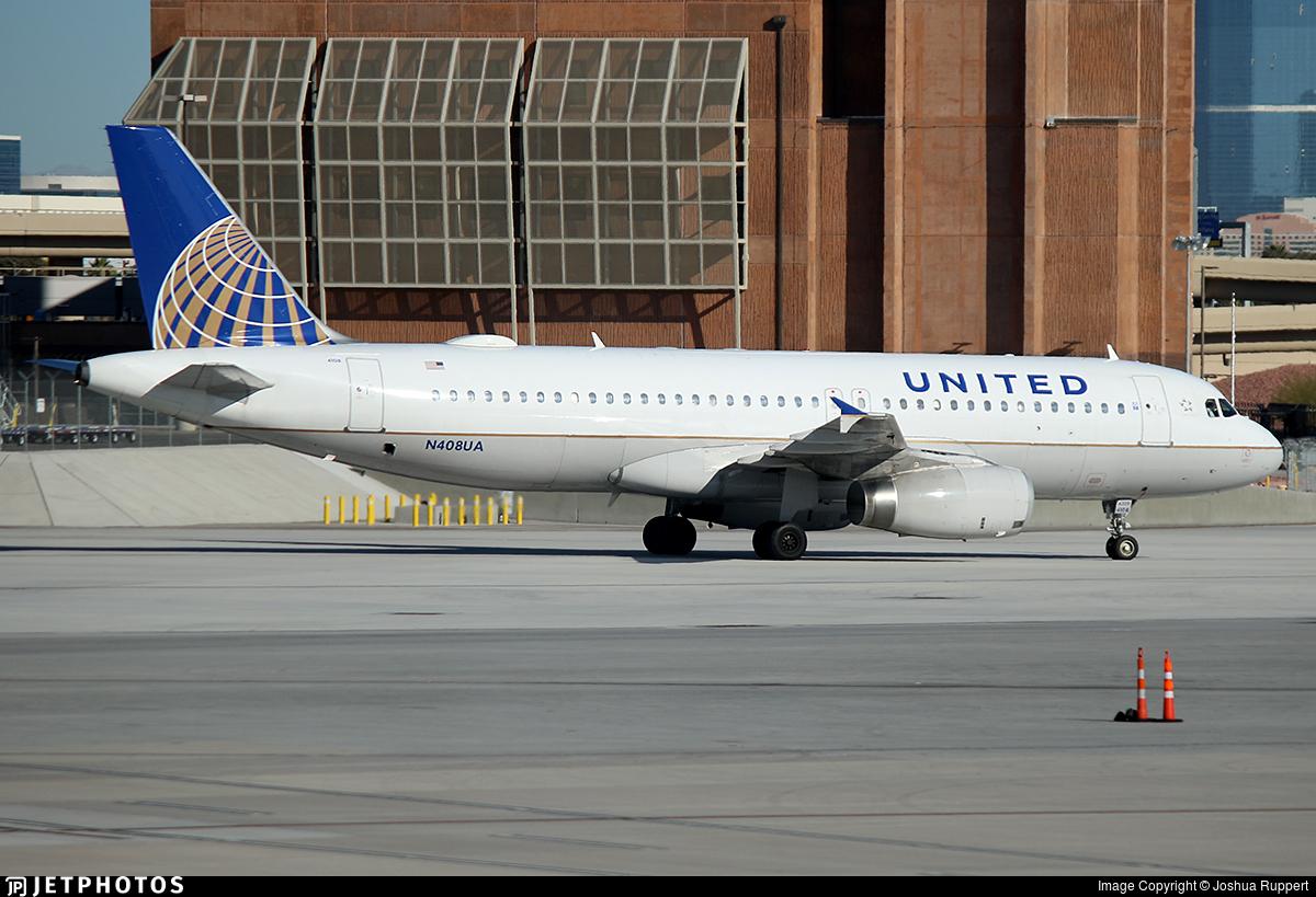 N408UA - Airbus A320-232 - United Airlines