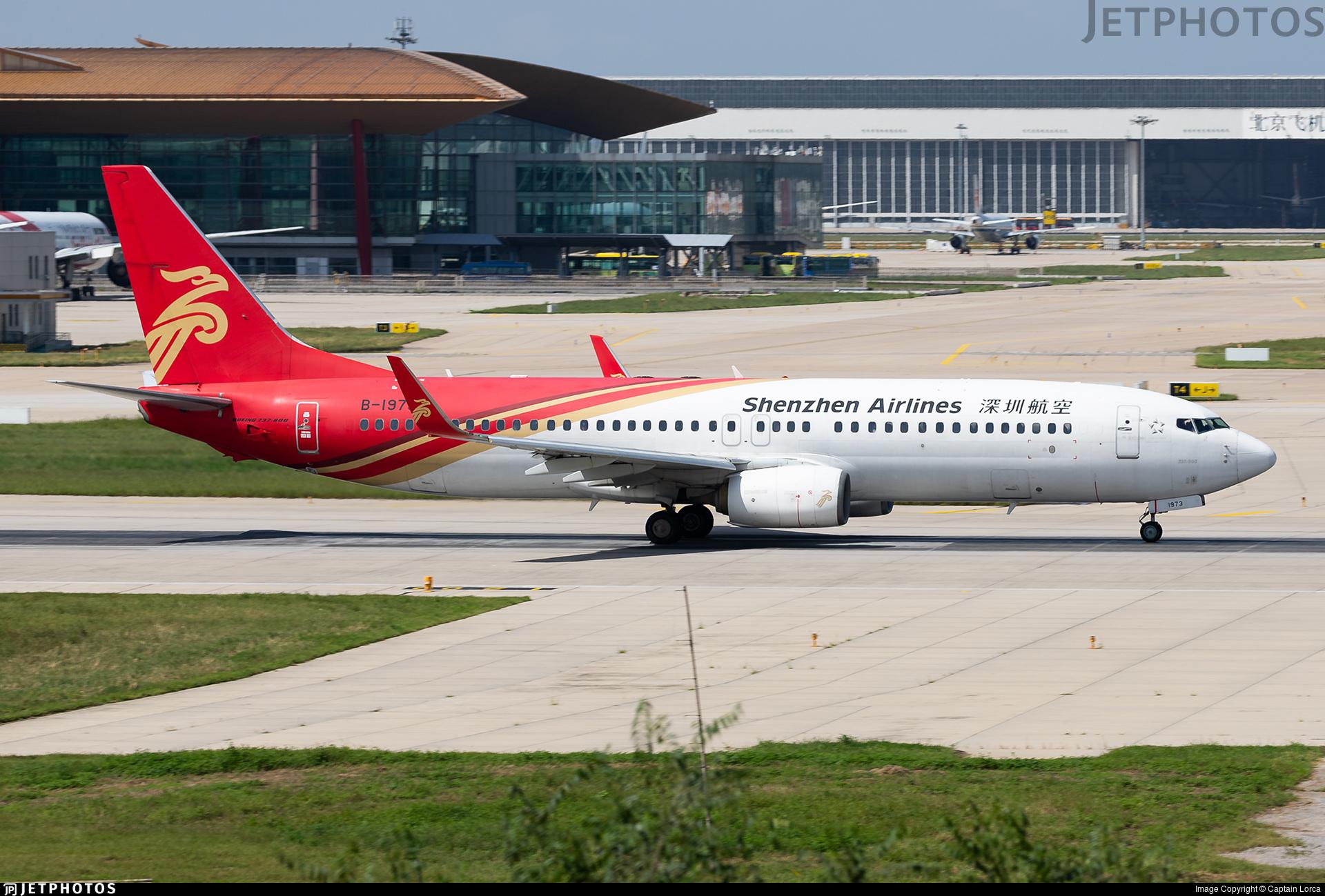 B-1973 - Boeing 737-87L - Shenzhen Airlines