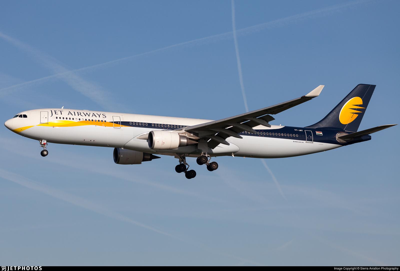 VT-JWT - Airbus A330-302 - Jet Airways