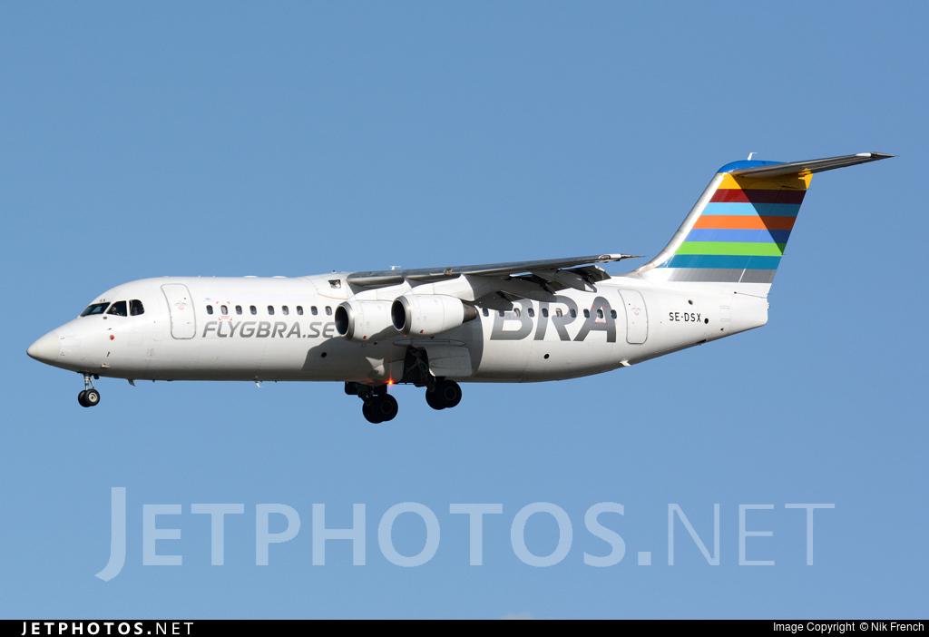 SE-DSX - British Aerospace Avro RJ100 - Braathens Regional