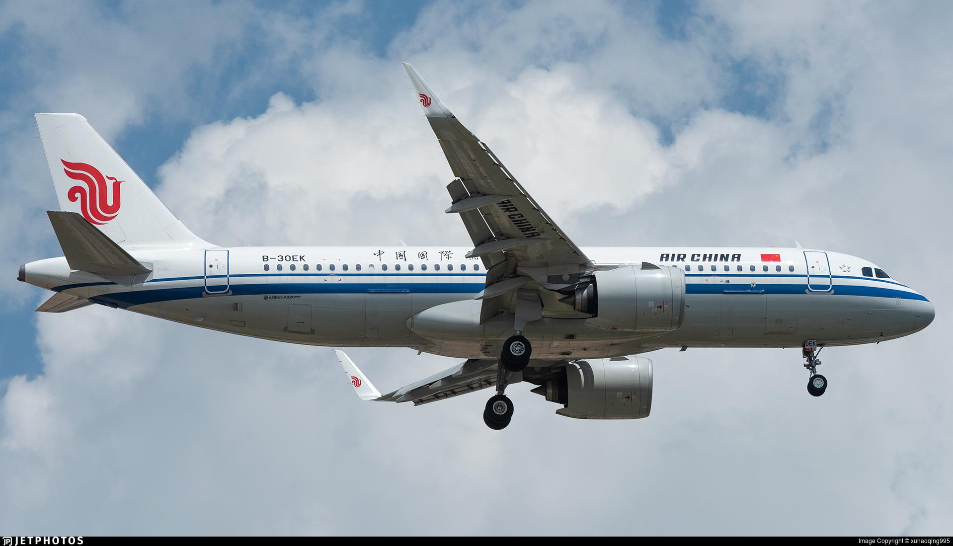 B-30EK - Airbus A320-271N - Air China