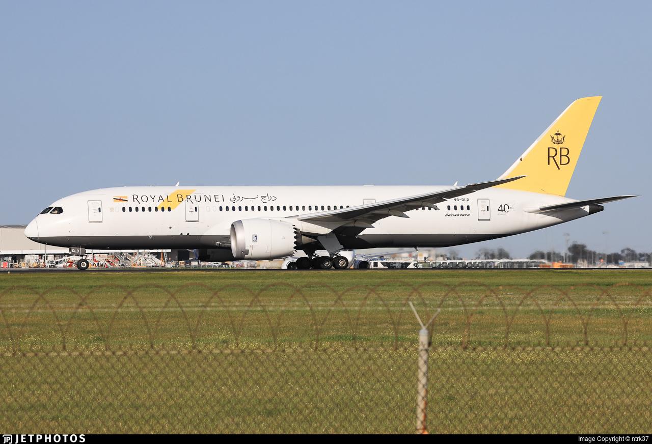 V8-DLD - Boeing 787-8 Dreamliner - Royal Brunei Airlines