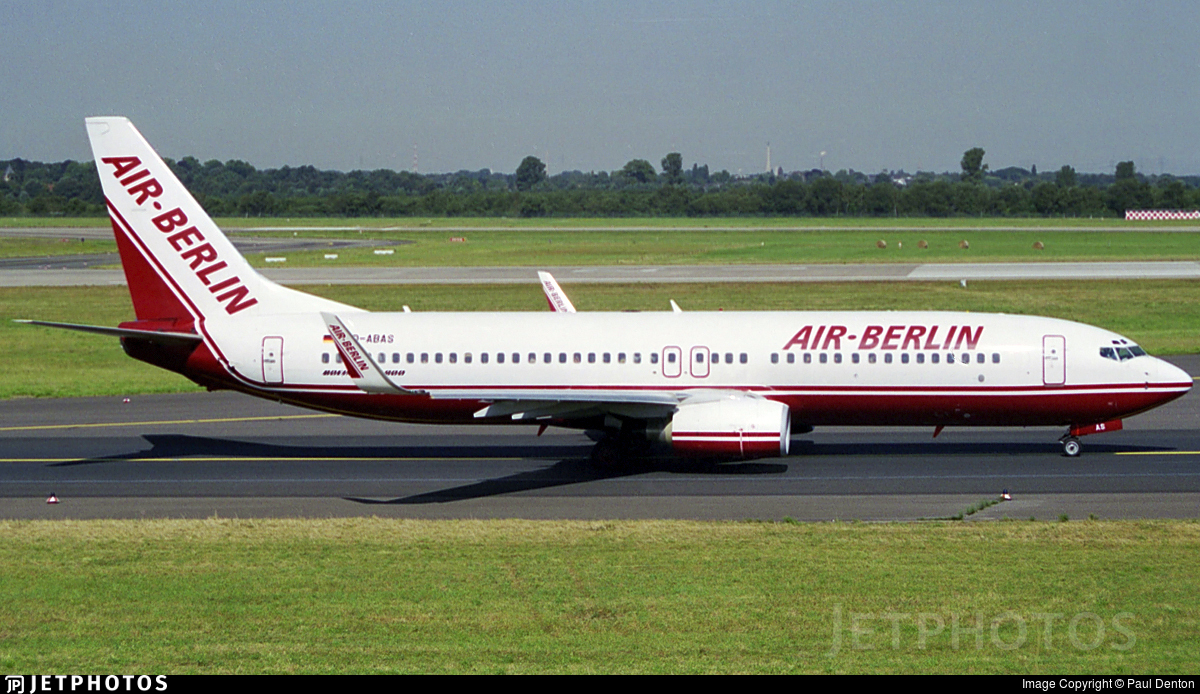 D-ABAS - Boeing 737-86J - Air Berlin