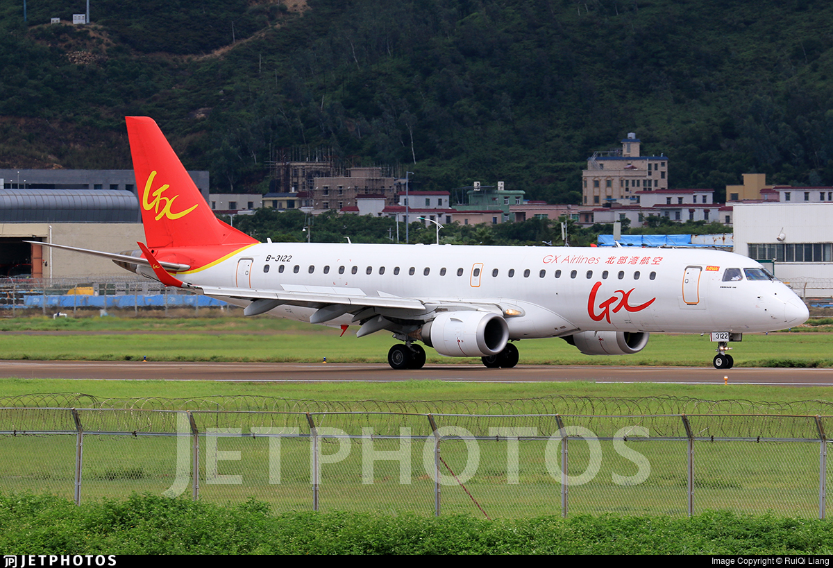 B-3122 - Embraer 190-100IGW - GX Airlines