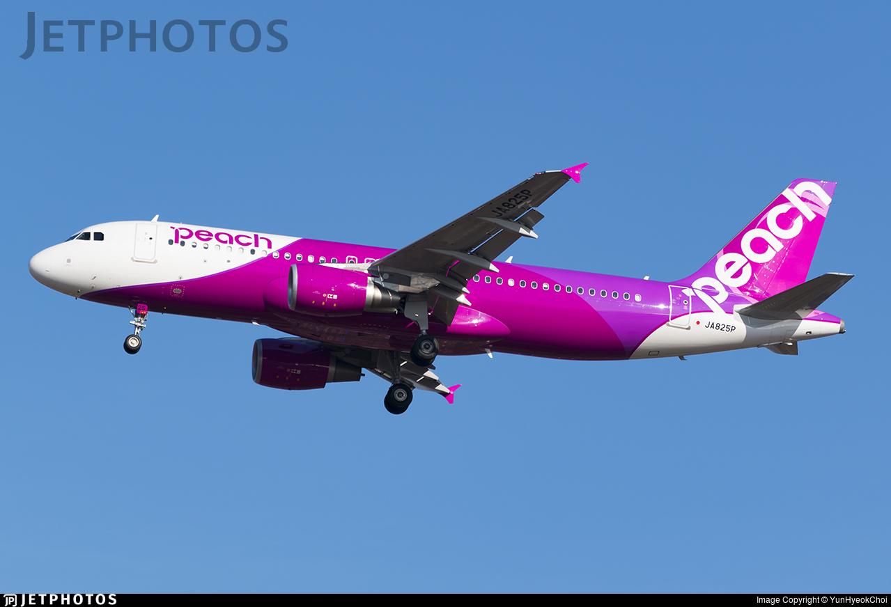 JA825P - Airbus A320-214 - Peach Aviation
