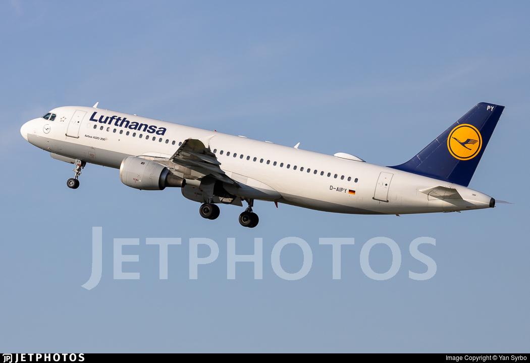 D-AIPY - Airbus A320-211 - Lufthansa