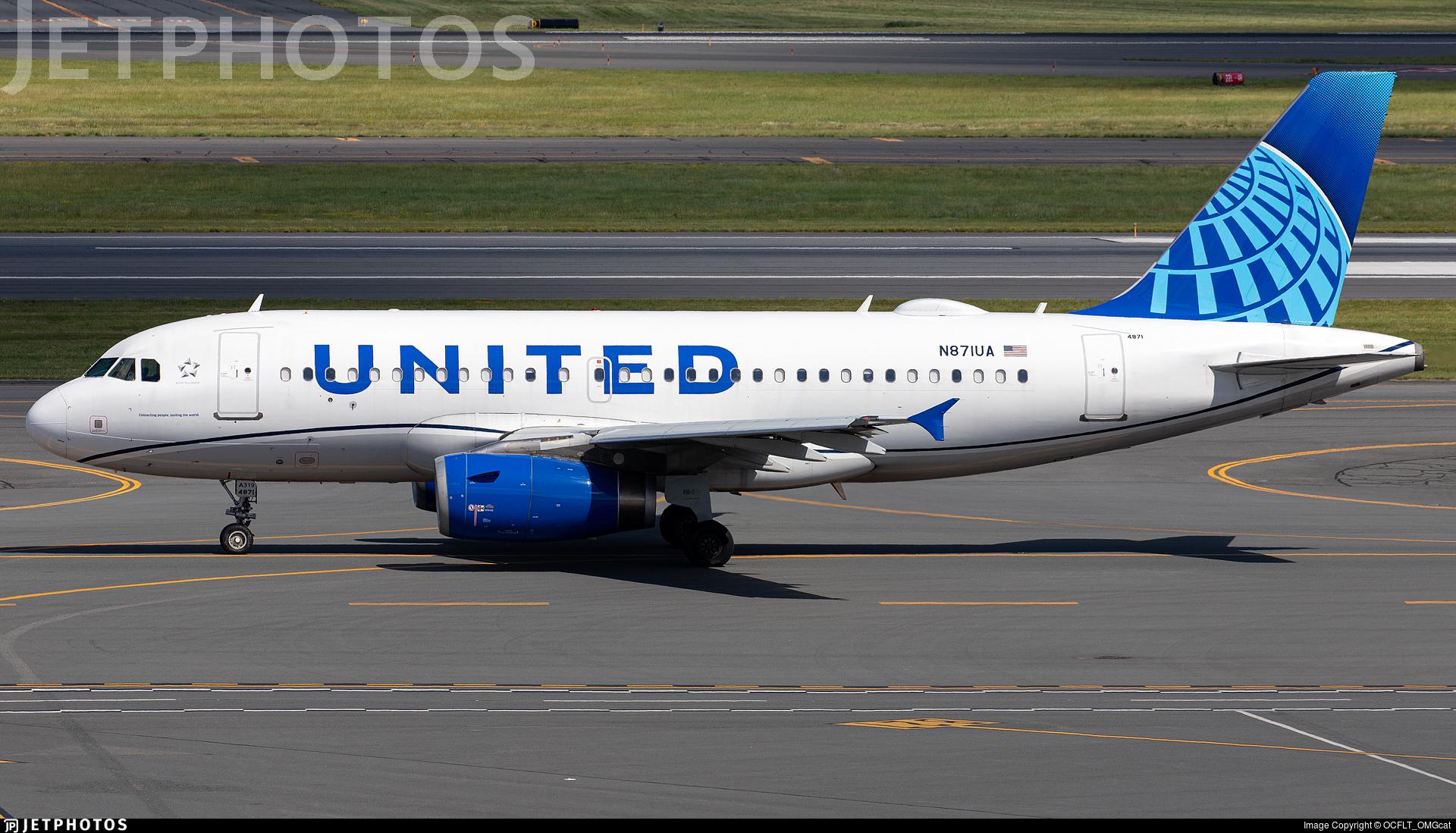 N871UA - Airbus A319-132 - United Airlines