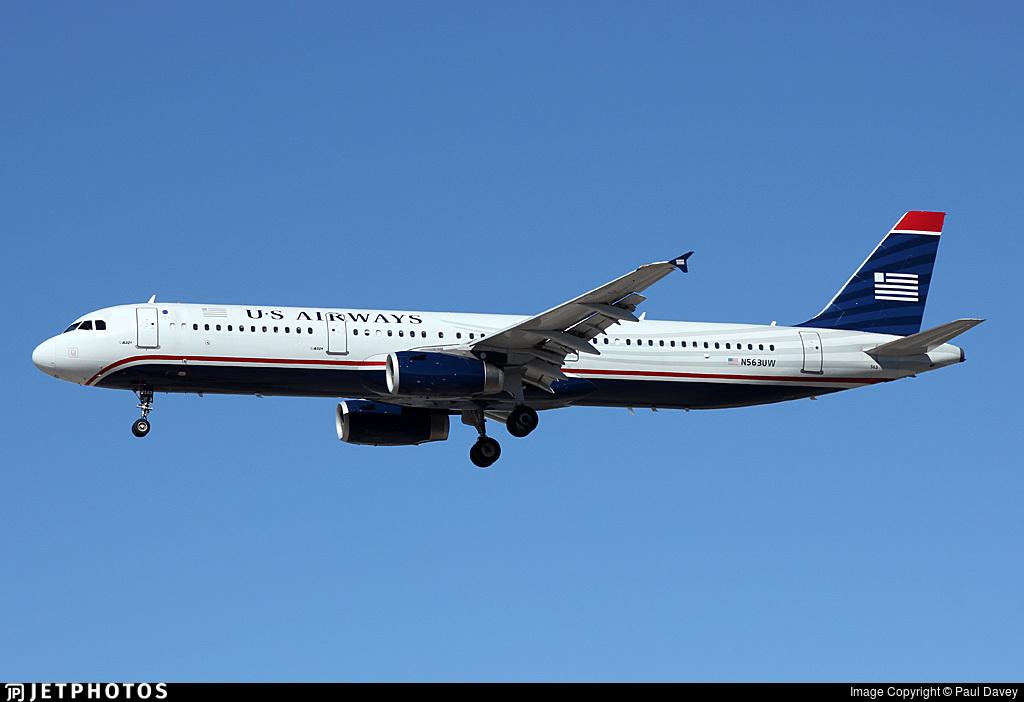 N563UW - Airbus A321-231 - US Airways