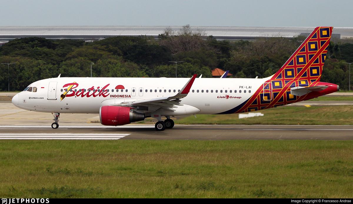 PK-LAI - Airbus A320-214 - Batik Air