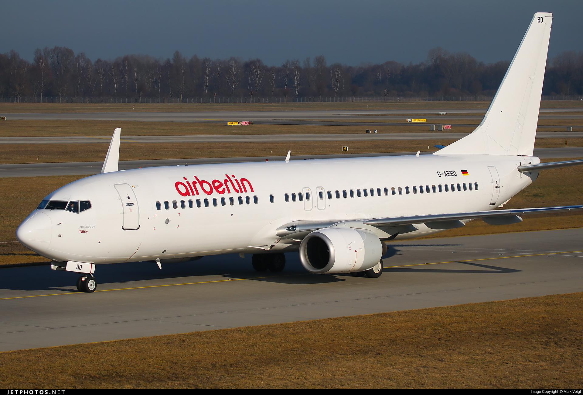 D-ABBK - Boeing 737-8BK - Air Berlin