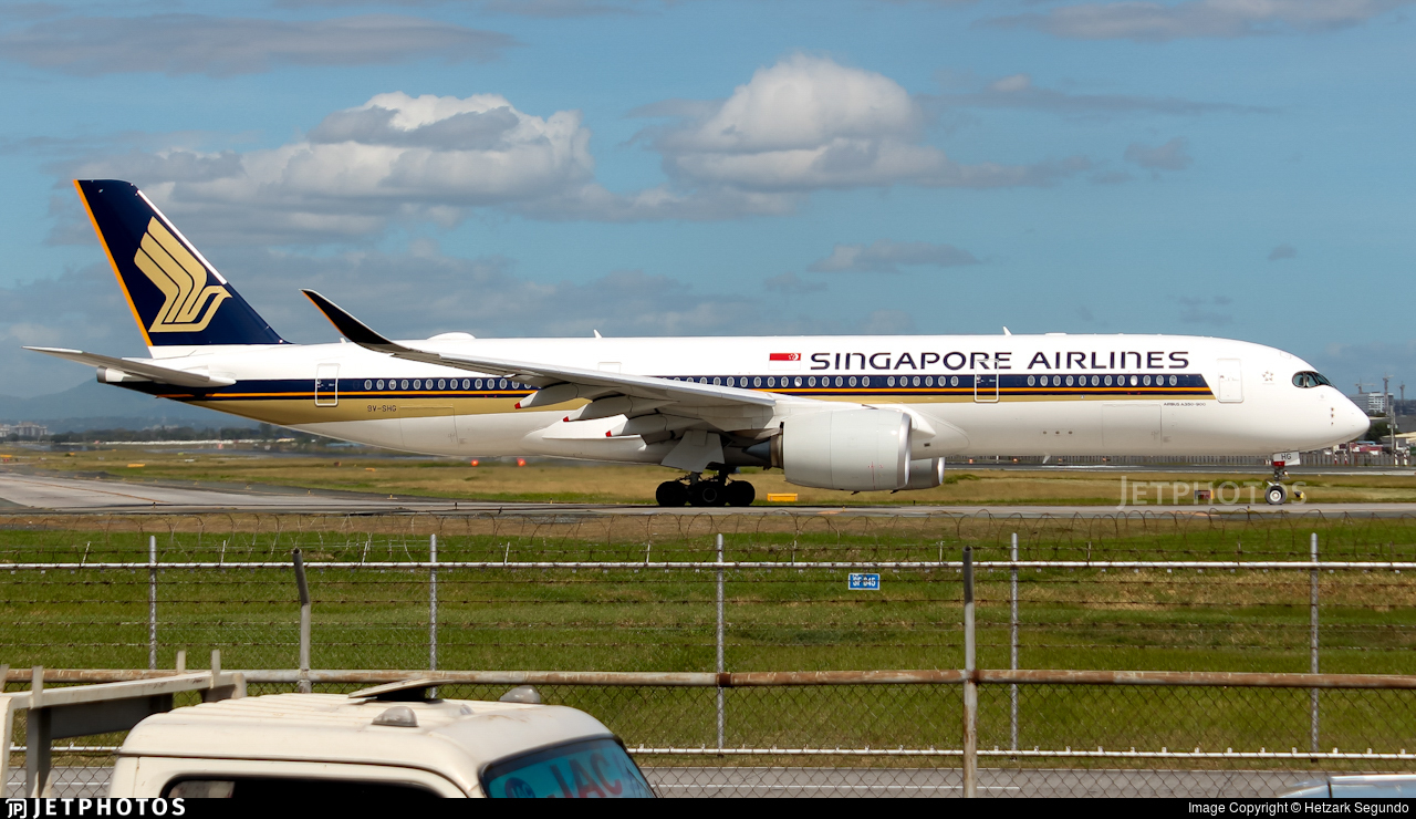 9V-SHG - Airbus A350-941 - Singapore Airlines