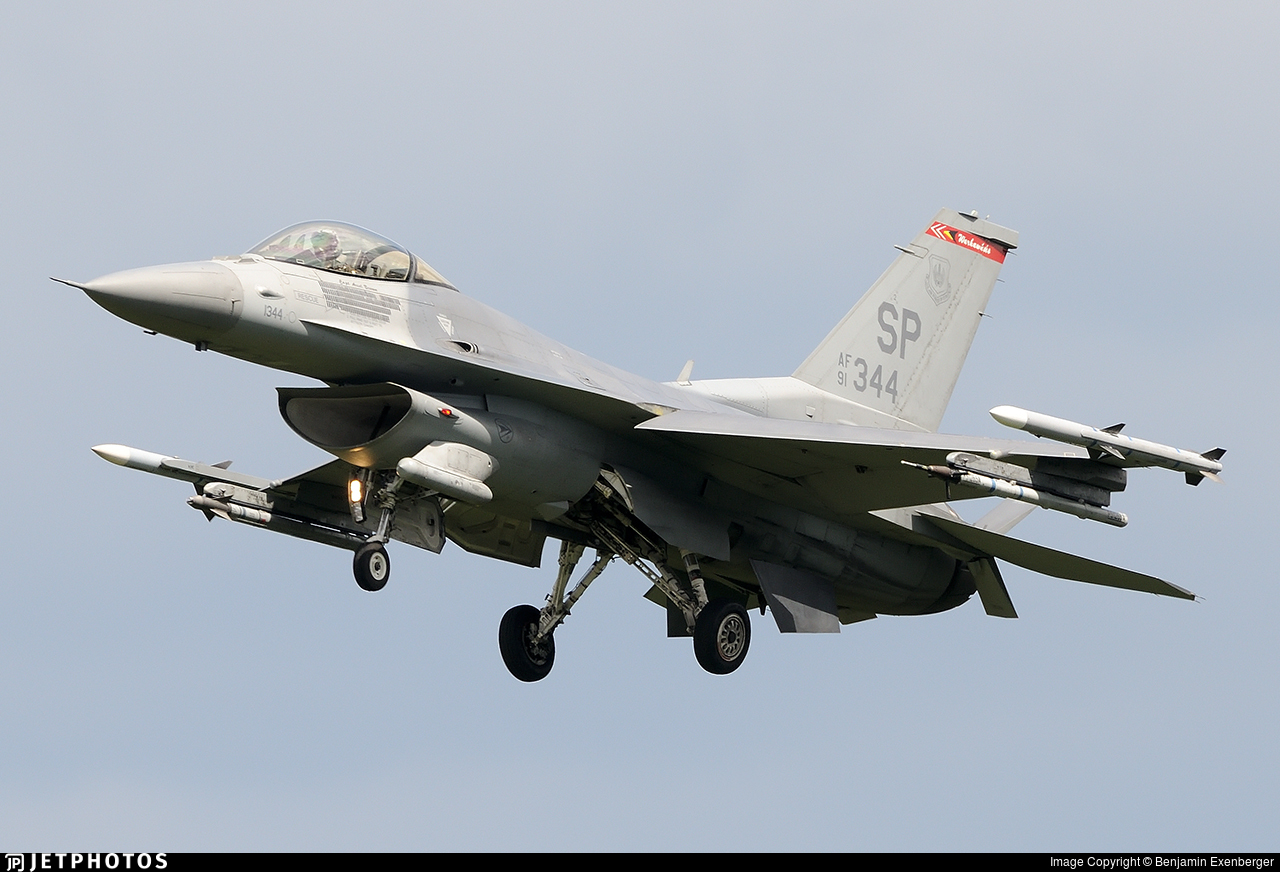 91-0344 - General Dynamics F-16C Fighting Falcon - United States - US Air Force (USAF)
