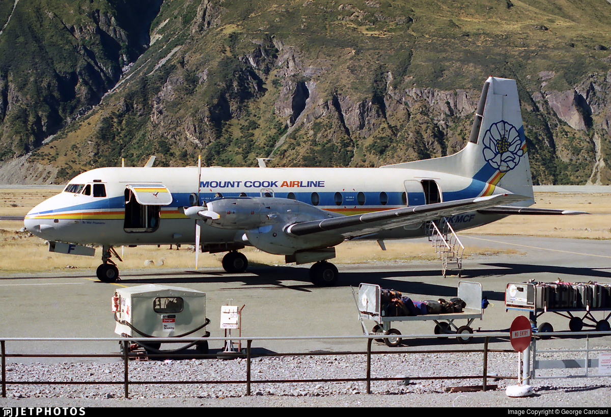ZK-MCF - Hawker Siddeley HS-748 Series 2A - Mount Cook Airlines
