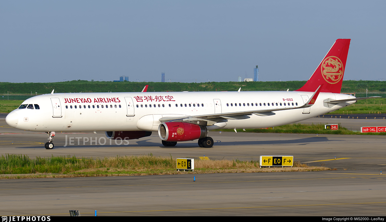B-1002 - Airbus A321-231 - Juneyao Airlines