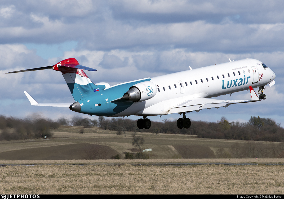 S5-AAZ - Bombardier CRJ-701ER - Luxair - Luxembourg Airlines (Adria Airways)