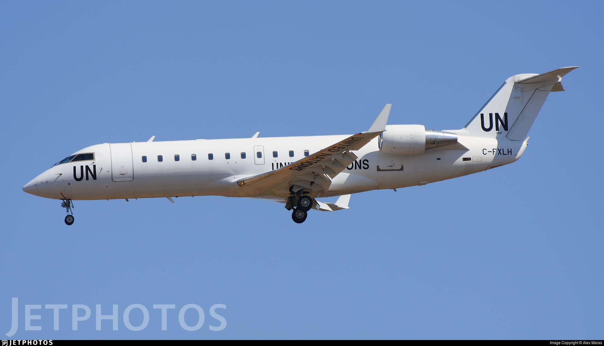 C-FXLH - Bombardier CRJ-200LR - United Nations (Voyageur Airways)