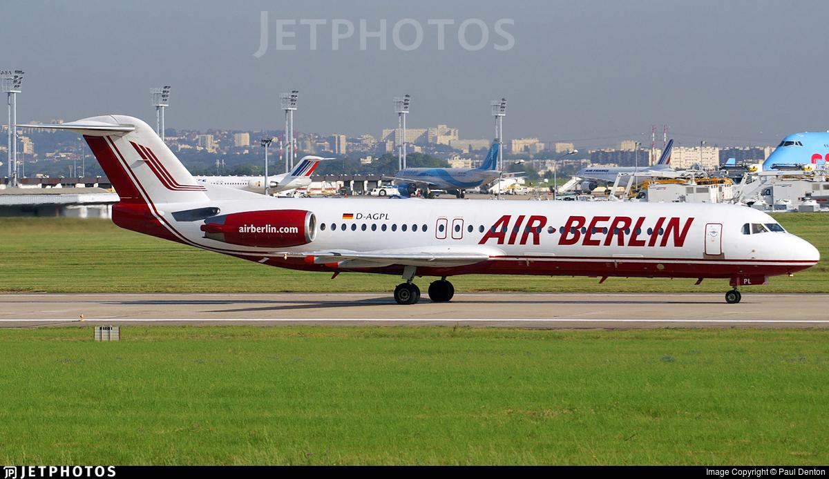 D-AGPL - Fokker 100 - Air Berlin (Germania)
