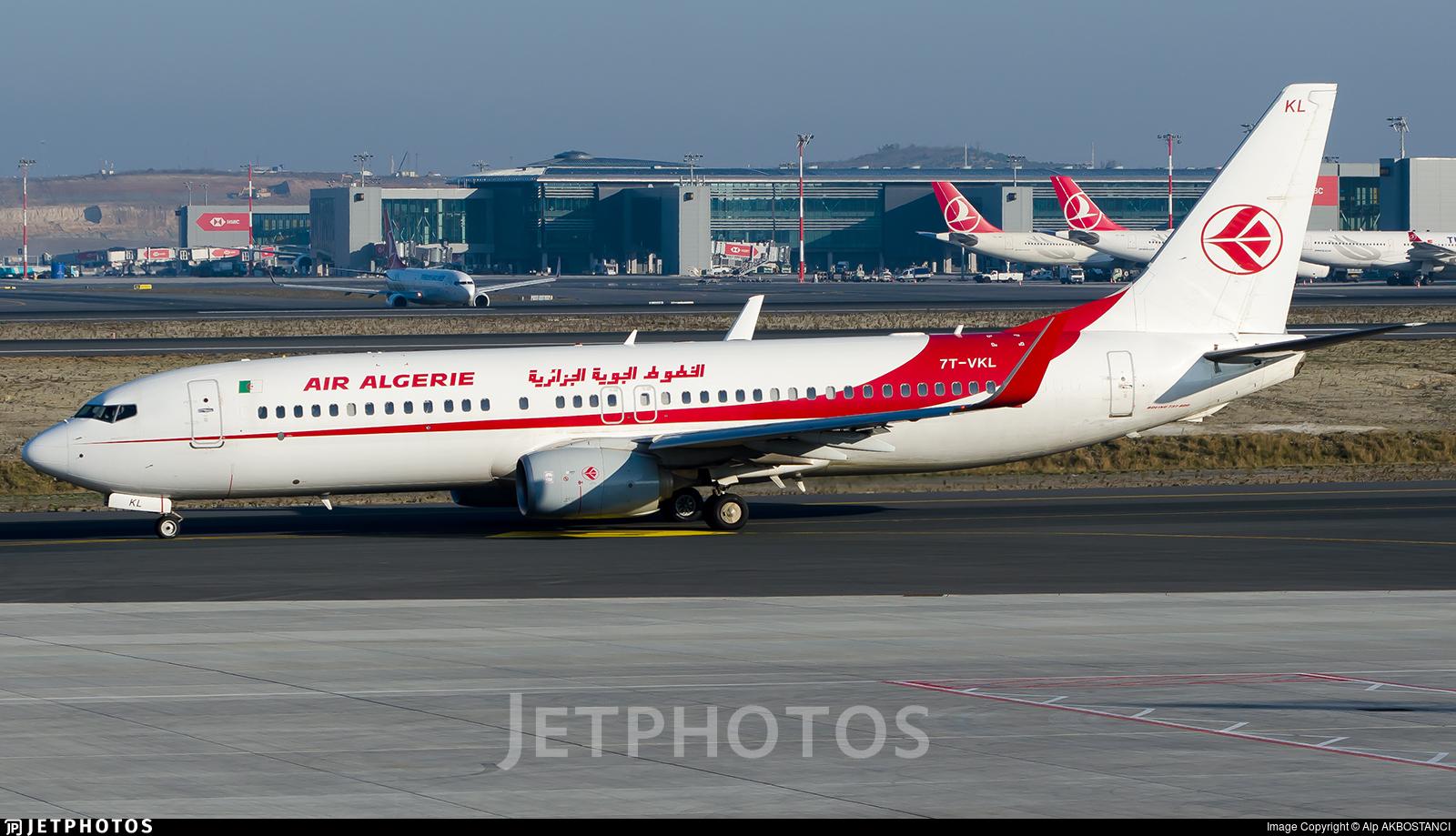 7T-VKL - Boeing 737-8D6 - Air Algérie