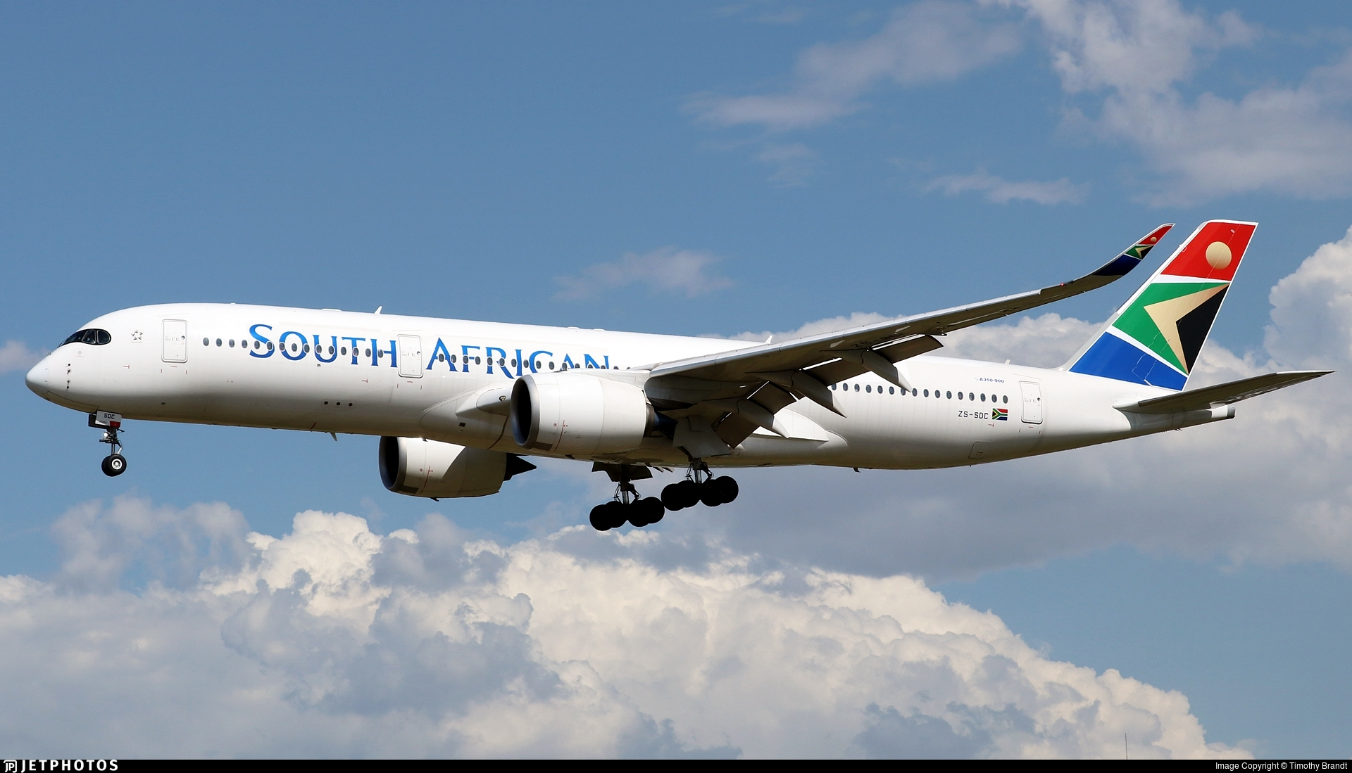ZS-SDC - Airbus A350-941 - South African Airways