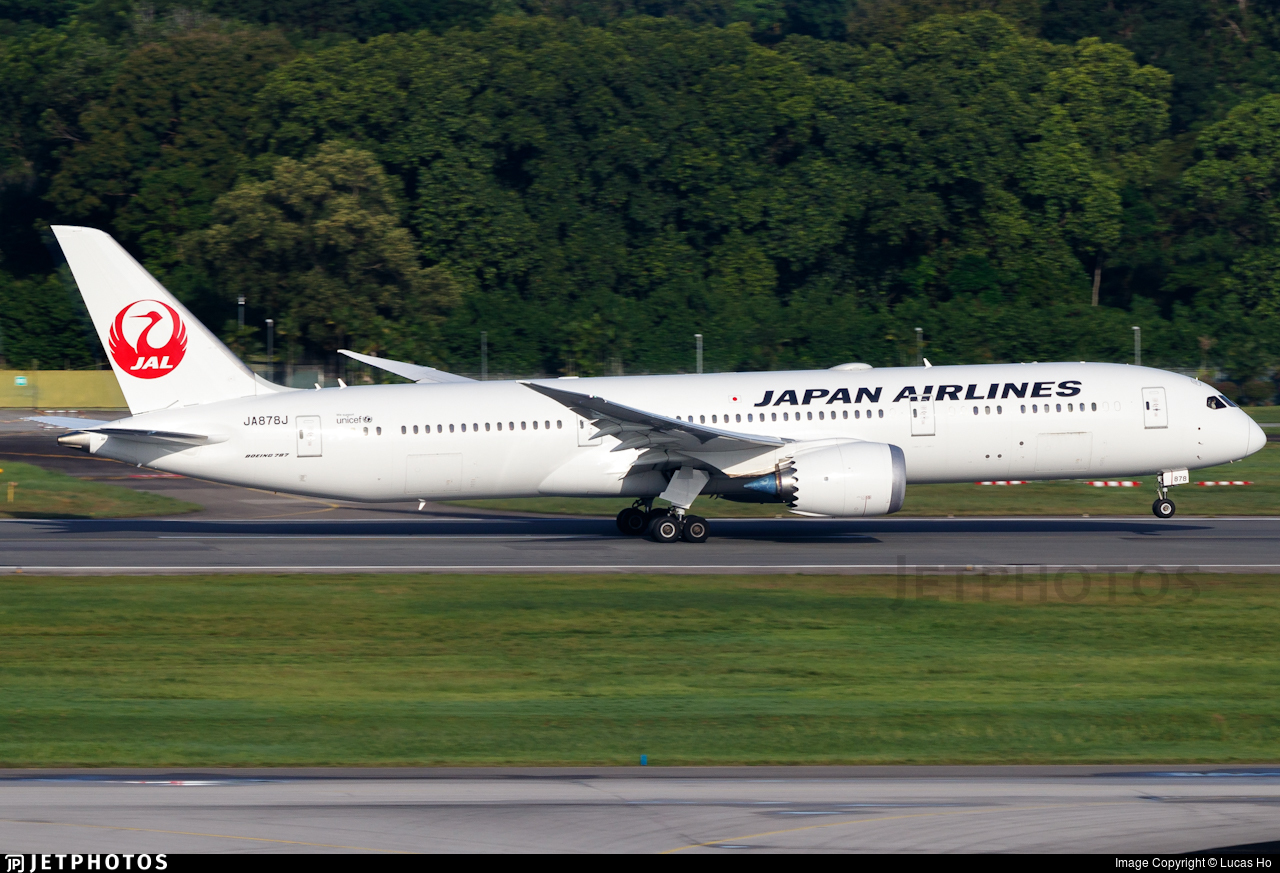 JA878J  - Boeing 787-9 Dreamliner - Japan Airlines (JAL)