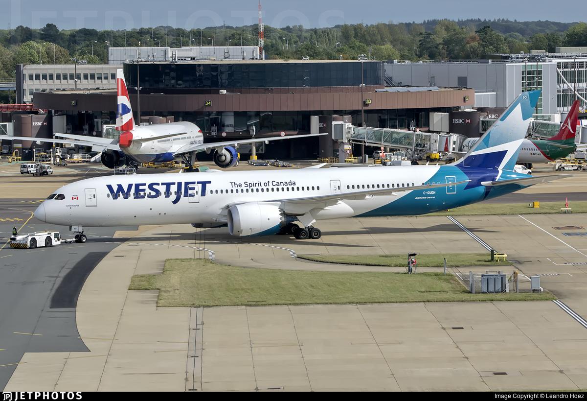 C-GUDH - Boeing 787-9 Dreamliner - WestJet Airlines