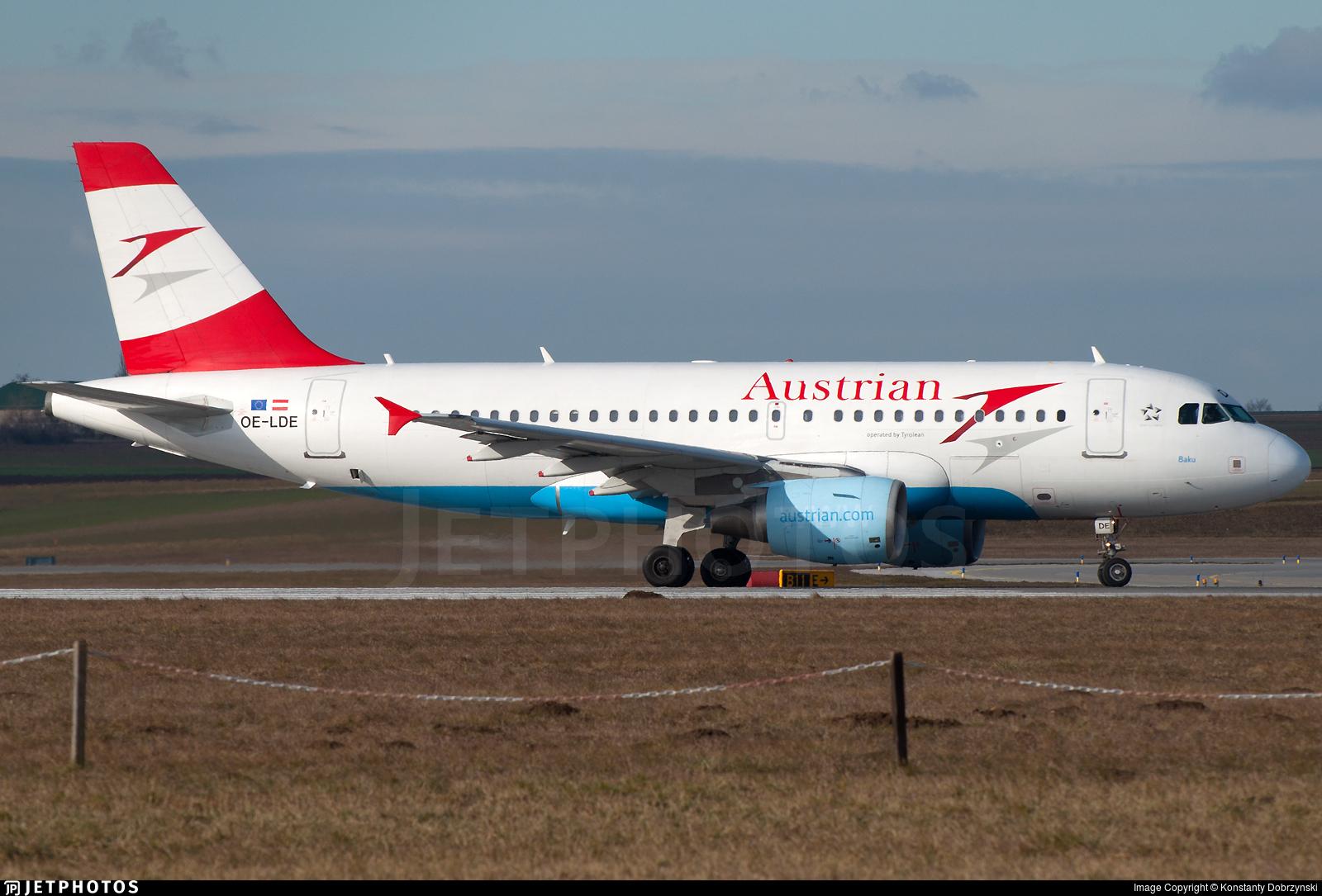OE-LDE - Airbus A319-112 - Austrian Airlines (Tyrolean Airways)
