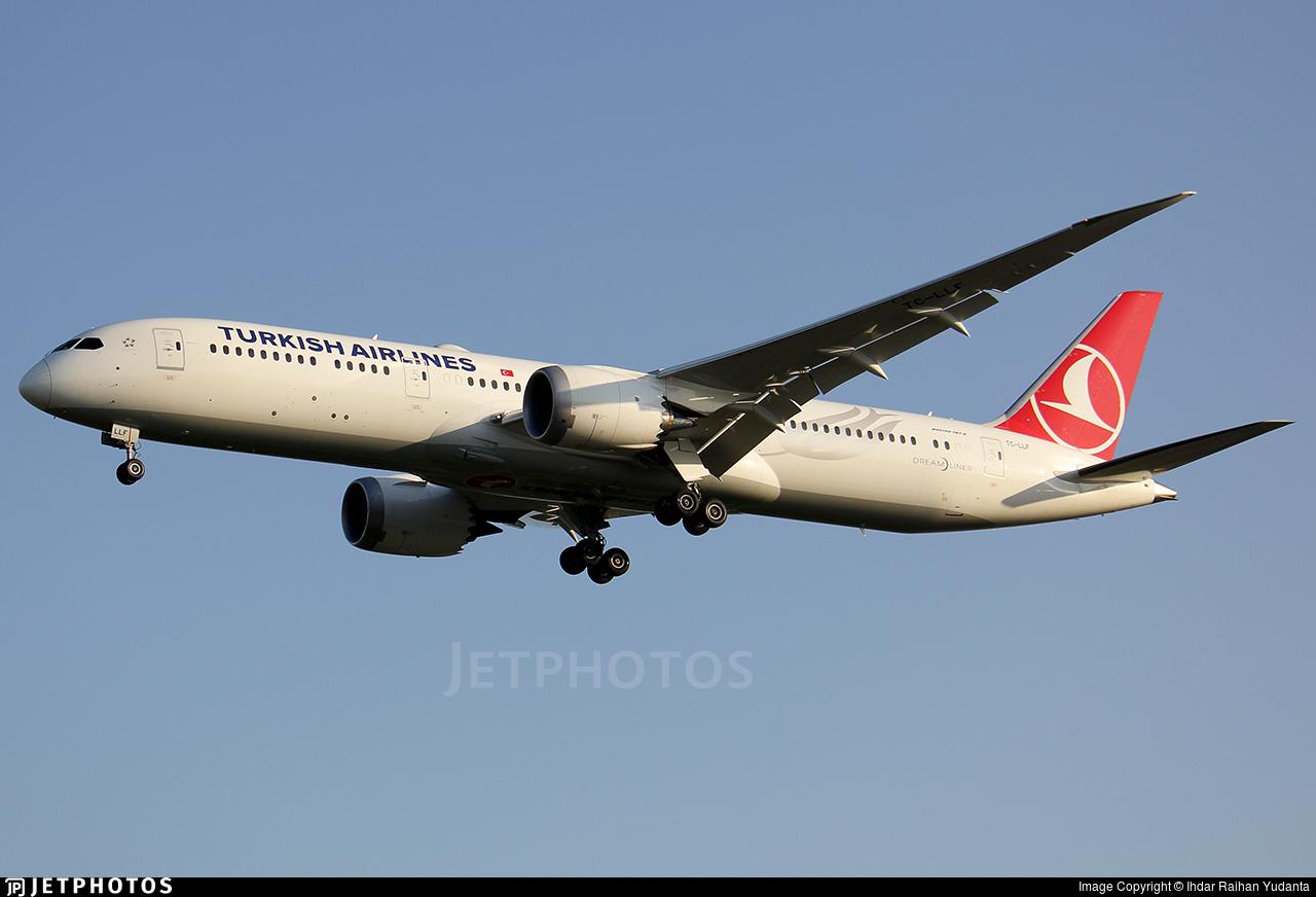 TC-LLF - Boeing 787-9 Dreamliner - Turkish Airlines