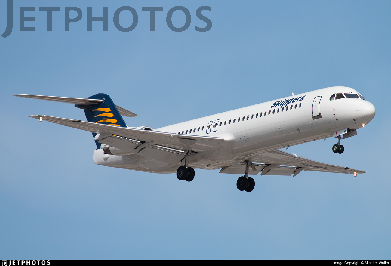 VH-XKN - Fokker 100 - Skippers Aviation