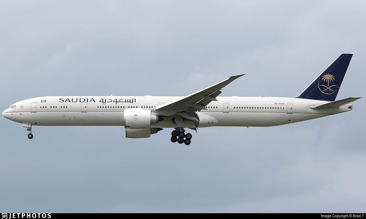 Hz Ak45 Boeing 777 368er Saudi Arabian Airlines Brad