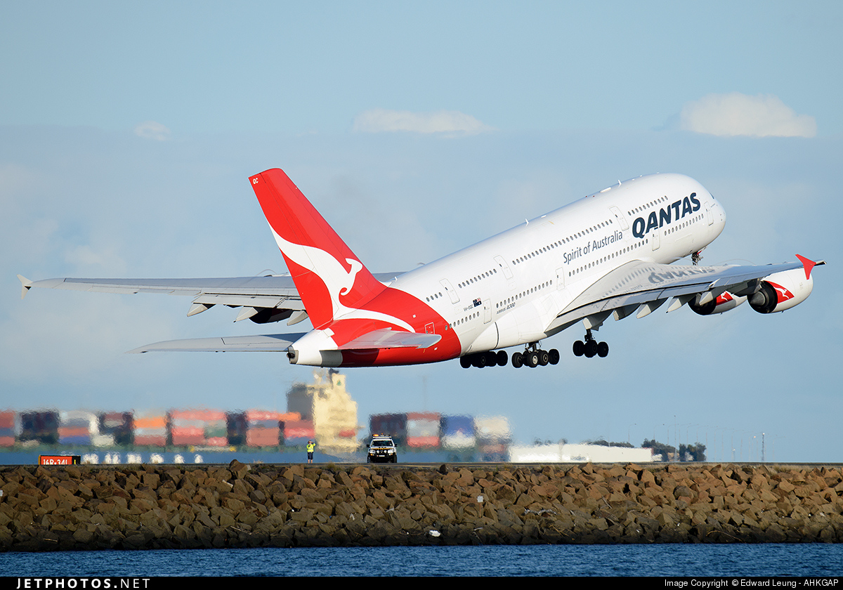VH-OQC - Airbus A380-842 - Qantas