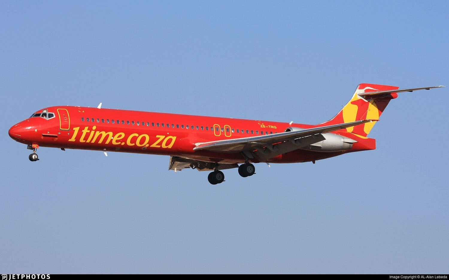 ZS-TRG - McDonnell Douglas MD-87 - 1Time Airline
